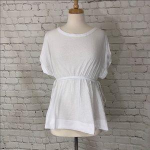 White Peplum Top Caslon Shirt
